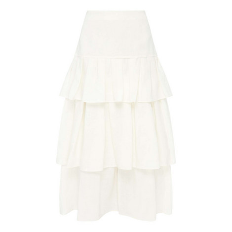 Tiered Ruffled Skirt, ${color}