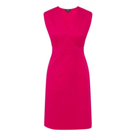 V-Neck Chino Dress, ${color}