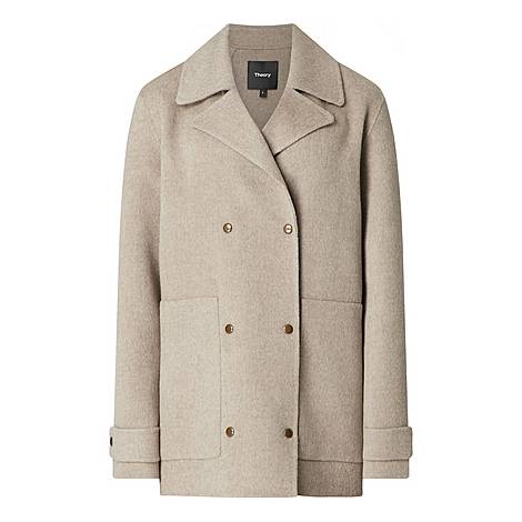 Wool Cashmere Peacoat, ${color}