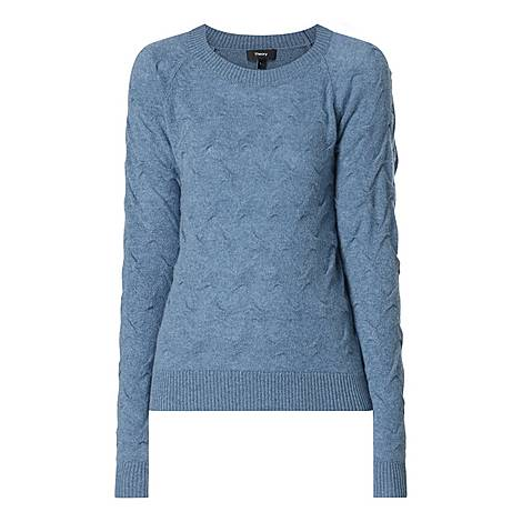 Tucked Cashmere Sweater, ${color}