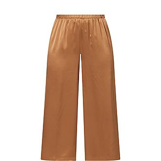 Silk Cropped Trousers