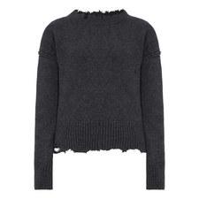Distressed Crew Neck Sweater