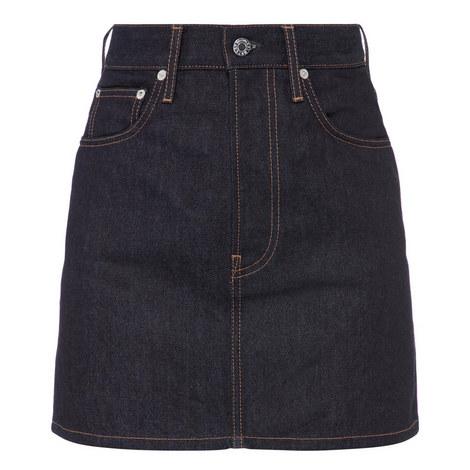 Denim Mini Skirt, ${color}