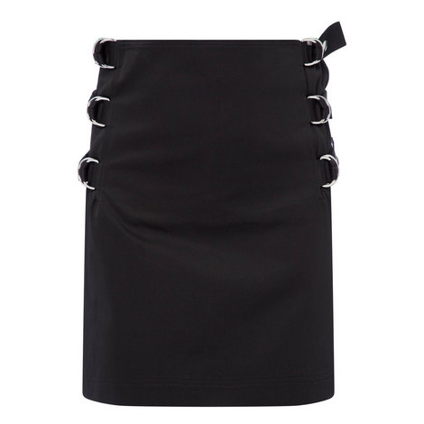 Buckled Satin Skirt, ${color}