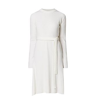 Wool-Cashmere Ribbed Dress