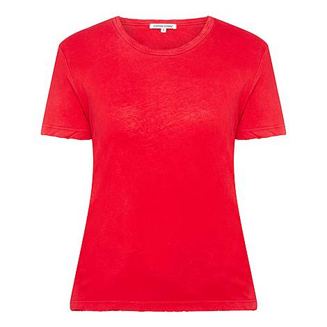 Distressed Sleeve T-Shirt, ${color}