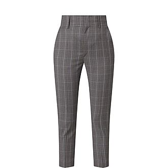 Noah Wool Checked Trousers