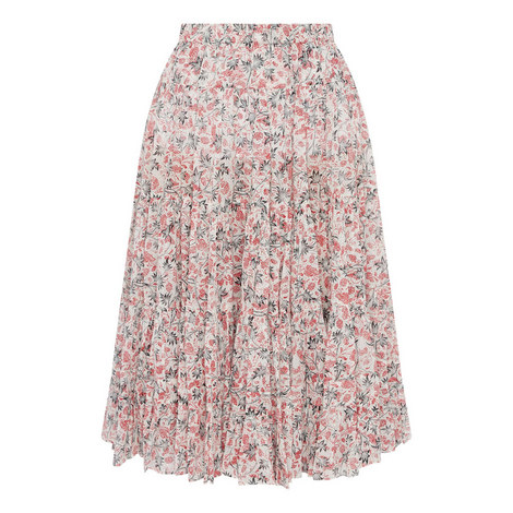 Elfa Floral Midi Skirt, ${color}