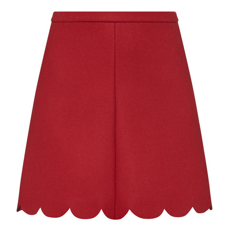 Scallop Hem Skirt, ${color}
