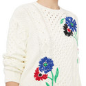 Floral-Embroidered Sweater, ${color}