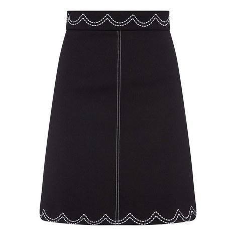 Trim Mini Skirt, ${color}