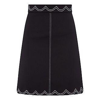 Trim Mini Skirt