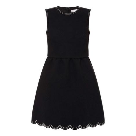Scalloped Mini Dress, ${color}