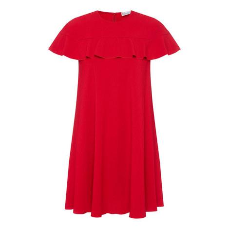 Ruffle Collar Mini Dress, ${color}