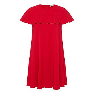 Ruffle Collar Mini Dress