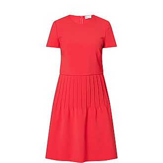 Pleated Waist Midi Dress