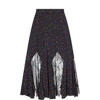 Micro Print Skirt