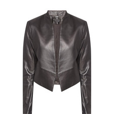Harvey Leather Open Jacket