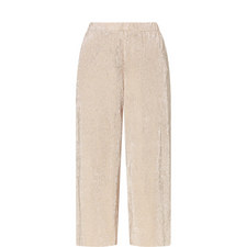 Foil Effect Cropped Trousers