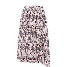 Pleat Asymmetric Skirt