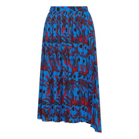 Pleat Asymmetric Skirt, ${color}