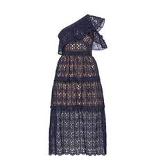Off-Shoulder Crochet Tier Dress