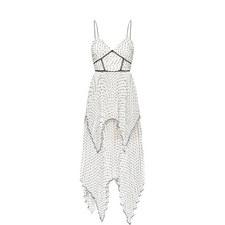Tiered Plumetis Camisole Dress