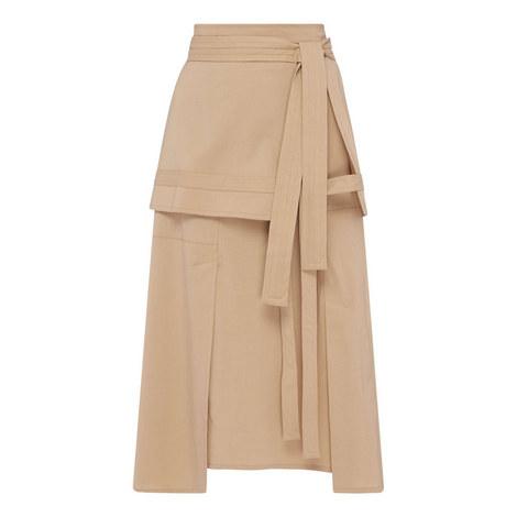 Patchwork A-Line Skirt, ${color}