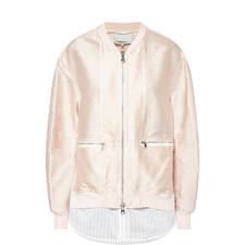 Satin Shirt Bomber Jacket