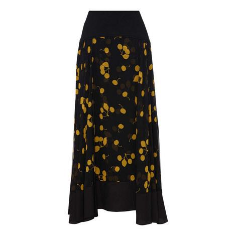 Cerise Print Maxi Skirt, ${color}