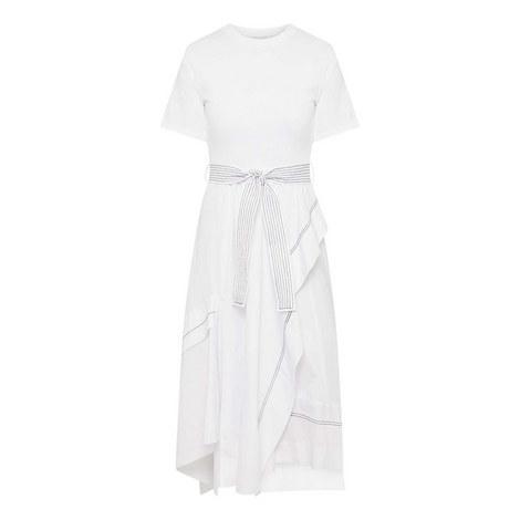 Draped Poplin Dress, ${color}