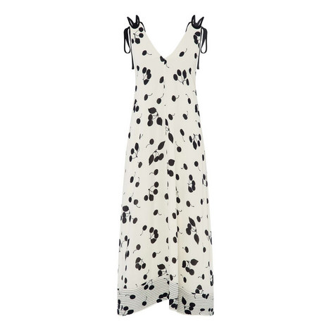 Backless Cherry Print Gown, ${color}