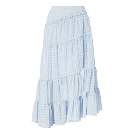 Gingham Midi Skirt, ${color}