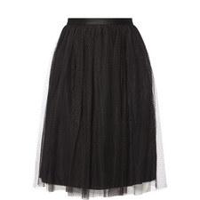 Dot Tulle Midi Skirt