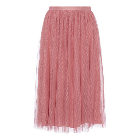 Dotted Tulle Skirt, ${color}