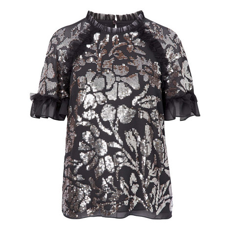 Floral Gloss Top, ${color}