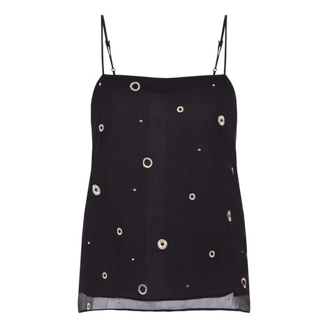 Metallic Embroidery Camisole, ${color}