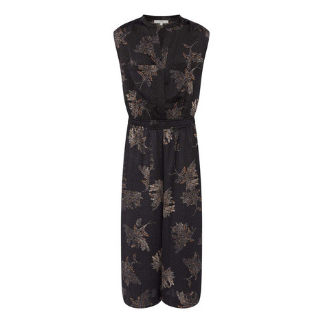 Woodblock Floral Sleeveless Jumpsuit, ${color}