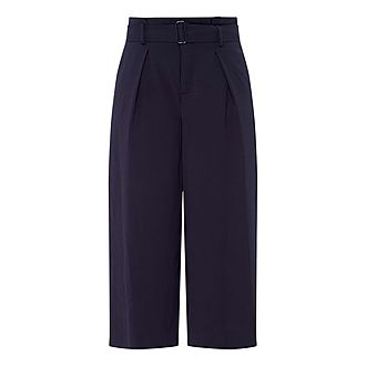 Belted Culotte Trousers