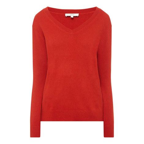 Weekend V-Neck Sweater, ${color}