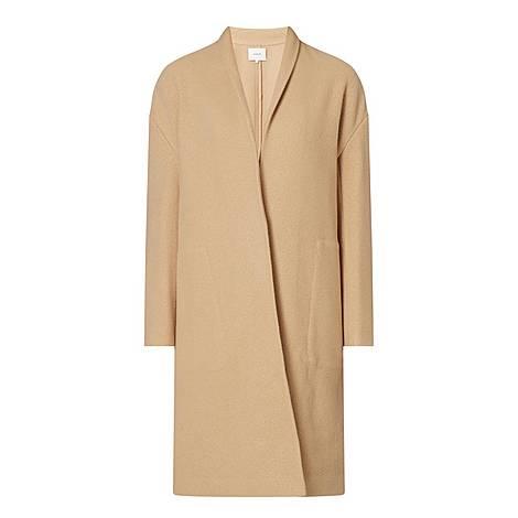Wool Collarless Coat, ${color}