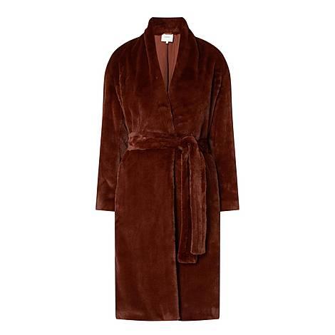 Plush Faux-Fur Coat, ${color}
