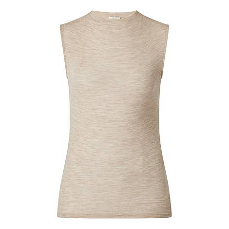 Sleeveless Funnel Neck Top, ${color}