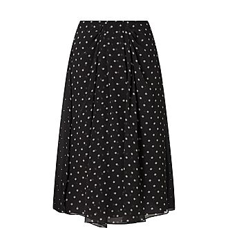 Mixed Media Dotted Skirt