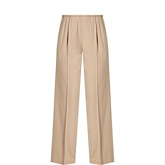 Flannel Wide Trousers