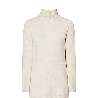 Turtleneck Cashmere-Blend Sweater