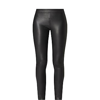 Leather Zip Cuff Trousers