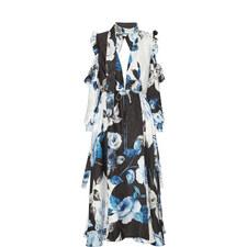 Volant Floral Dress
