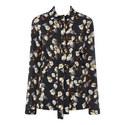 Floral Crêpe Pyjama Shirt, ${color}