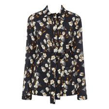 Floral Crêpe Pyjama Shirt